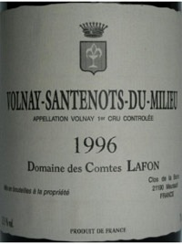 Volnay-Santenots-du-Milieu 1996, AOC
