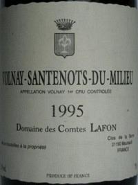 Volnay-Santenots-du-Milieu 1995, AOC