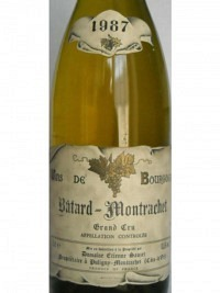 Bâtard-Montrachet Grand Cru 1987, AOC